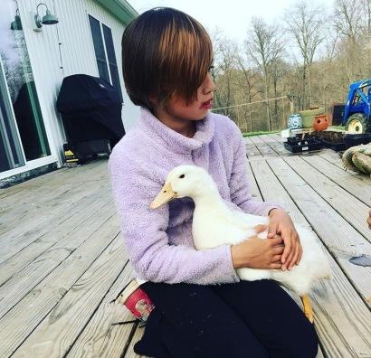 Lulu being loved on.